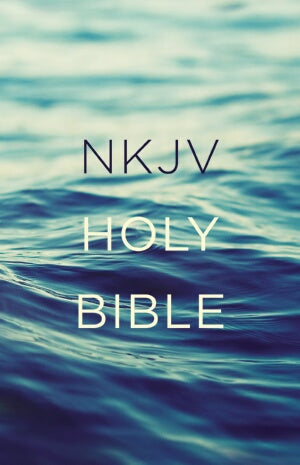 NKJV Value Outreach Bible-Blue Scenic Softcover