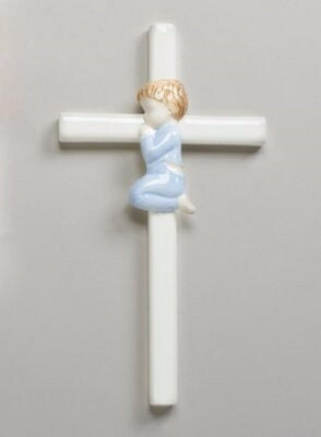 "Wall Cross-Baby-Boy Praying (7.5"")"