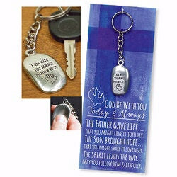 Confirmation Thumbstone Keyring