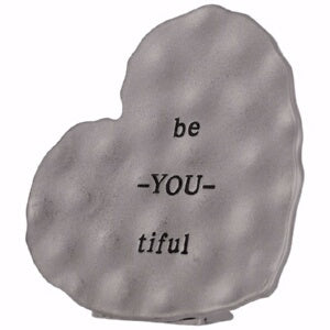 Plaque-Mini Metal: Be-You-Tiful (3.5 x 3.5)