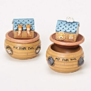 Keepsake Set-Noah's Ark-Baby's First Tooth & First