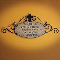 Barrel Plaque-Christ Is The Head