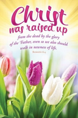 Christ Was Raised Up (Romans 6:4) (Easter Bulletin