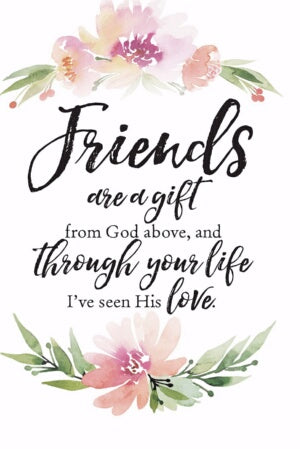 Plaque-Woodland Grace-Friends Are A Gift (6 x 9)