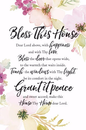 Plaque-Woodland Grace-Bless This House (6 x 9)