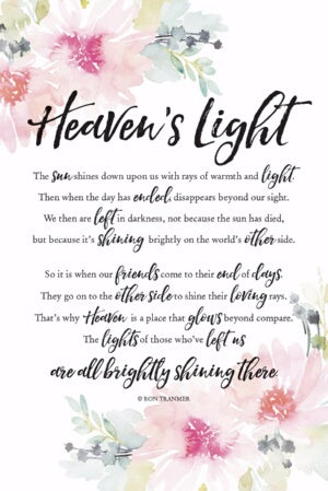 Plaque-Woodland Grace-Heaven's Light (6 x 9)