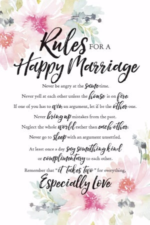 Plaque-Woodland Grace-Rules For Happy Marriage (6