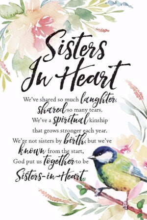Plaque-Woodland Grace-Sisters In Heart (6 x 9)