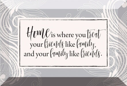 Glass Plaque-Home Is Where You (6 x 4)