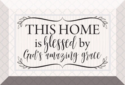 Glass Plaque-This Home Is Blessed (6 x 4)