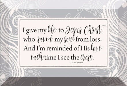 Glass Plaque-I Give My Life To Jesus (6 x 4)