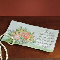 Jewelry Dish-God Bless The Woman (9.75 x 5.75)