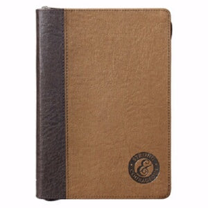 Blessed-LuxLeather-Gray w/Zipper Closure Journal