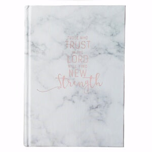 Those Who Trust In the Lord-Marble Look Journal
