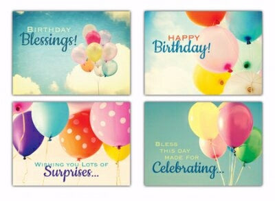 Card-Boxed-Up And Away! Assorted Birthday (NIV) (B