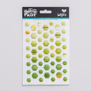 Bible Journaling-Epoxy Stickers-Mini Hexies-Olive