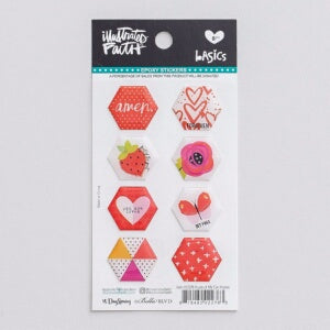 Bible Journaling-Epoxy Stickers-Hexies-Apple Of My