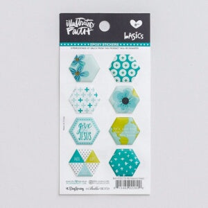 Bible Journaling-Epoxy Stickers-Hexies-Oh My Heave