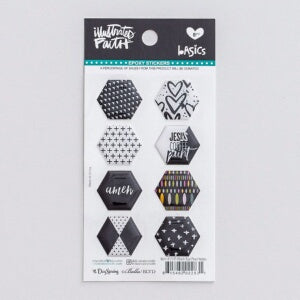 Bible Journaling-Epoxy Stickers-Hexies-Black Eyed