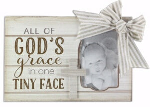 All Of God's Grace In One Tiny Face w/Cross Frame