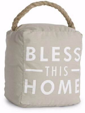Door Stopper-Bless This Home-Tan (5 x 6)