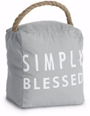 Door Stopper-Simply Blessed-Gray (5 x 6)