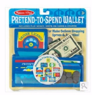 Pretend Play-Pretend To Spend Wallet (45 Pieces) (