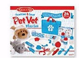Pretend Play-Examine & Treat Pet Vet Play Set (24