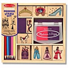 Stamp Set-Princesses (15 Pieces) (Ages 4+)