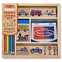 Stamp Set-Vehicles (16 Pieces) (Ages 4+)
