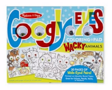 Coloring Pad: Googly Eyes-Goofy Animals (Ages 3+)