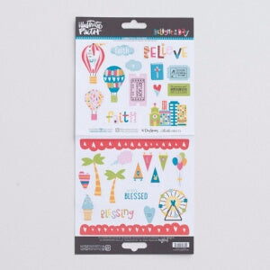 Bible Journaling-Cardstock Stickers-Delight In His Day Elements (6 x 12)