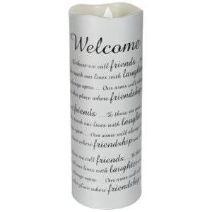 Flameless Flicker-Sonnet-Welcome w/Timer-Va Candle
