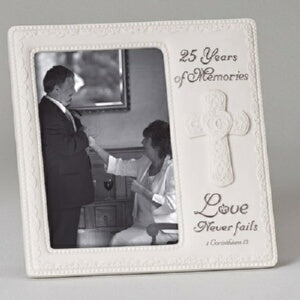 "25th Anniversary-Love Never Fails (8"") Frame"