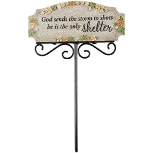 "Garden Blessings Planter Pick-Shelter (2"" x 6"" x 9"