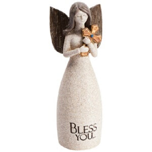 "Figurine-Angel Blessings-Bless You (5.25"" x  2"")"