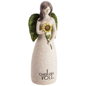 "Figurine-Angel Blessings-I Cherish You (5.25"" x  2"