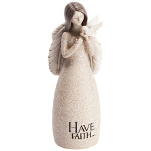 "Figurine-Angel Blessings-Have Faith (5.25"" x  2"")"