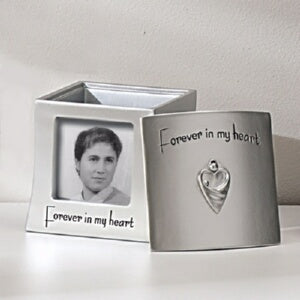 Memorial Frame Keepsake Box-Forever In My Heart (H