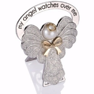 Child Bedside Angel-My Angel Watches Over Me-White