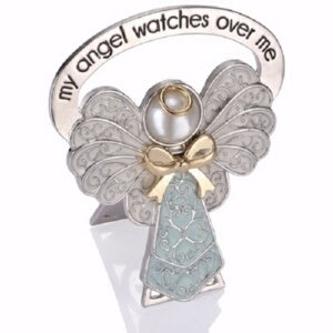 Child Bedside Angel-My Angel Watches Over Me-Blue