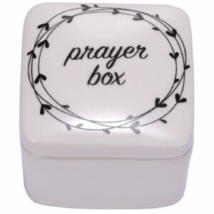 "Prayer Box-Porcelain w/Poem Inside (2.5"")"