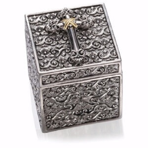 "Prayer Box-Keepsake w/Cross 18k Gold Plate (2"")"