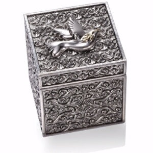 "Prayer Box-Keepsake w/Dove 18k Gold Plate (2"")"