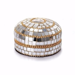 "Prayer Box Trinket Box-Mirrored (3"" Round)"