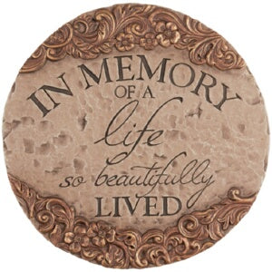 Garden Stone-In Memory Of A Life So Beautifully Li