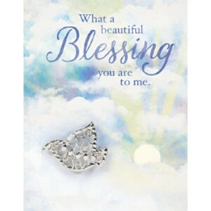 Brooch Greeting Card-Blessing w/Dove Pin (Card is