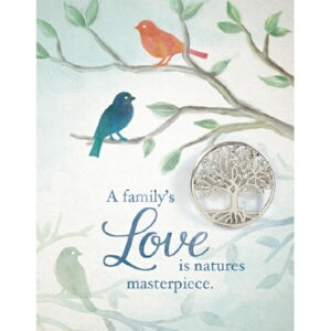Brooch Greeting Card-Family's Love w/Family Tree P
