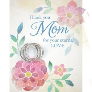 Brooch Greeting Card-Mom w/Triple Ring Pin (Card i