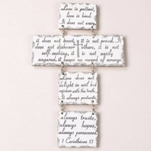 "Wall Cross-Love Letters (13""H)"
